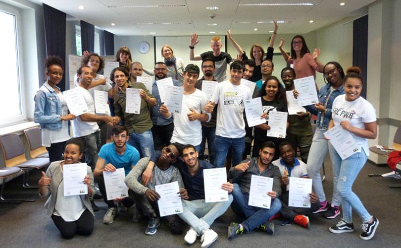 Teamer:innenschulung für junge Geflüchtete