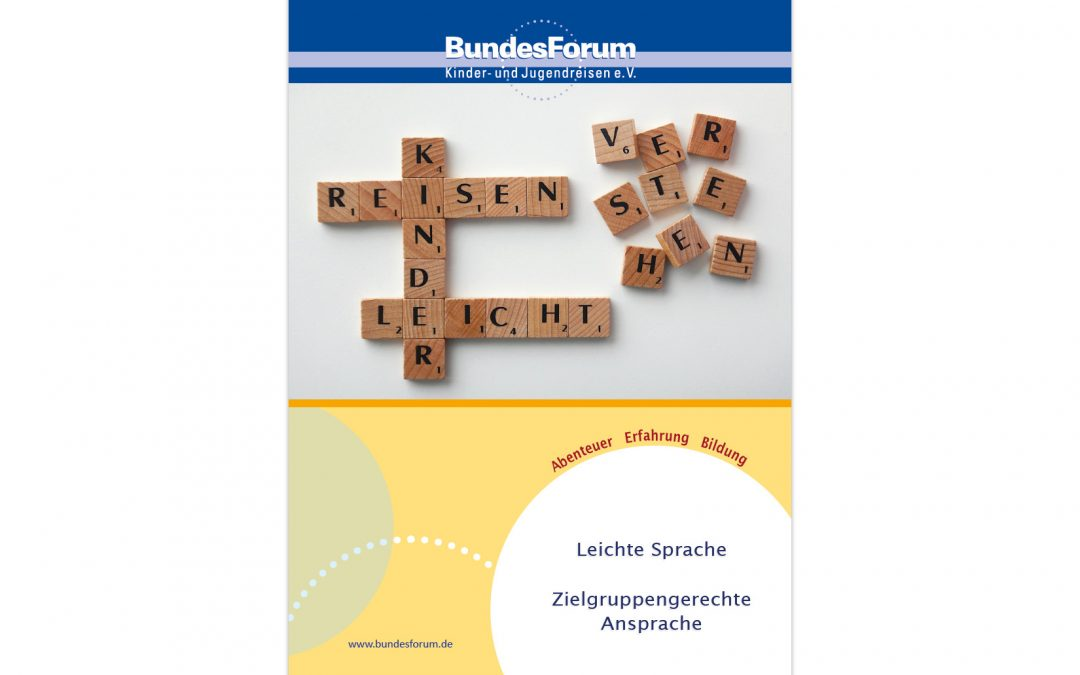 "Handreichung ""Leichte Sprache – Zielgruppengerechte Ansprache"""