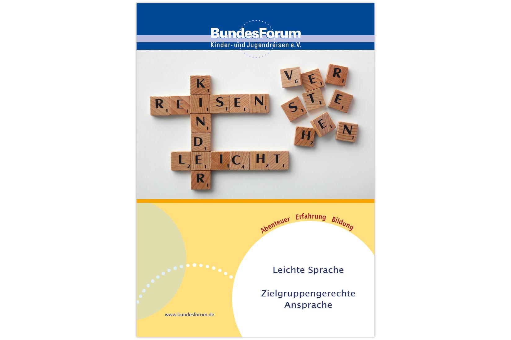 Titelbild Handreichung - Leichte Sprache – Zielgruppengerechte Ansprache