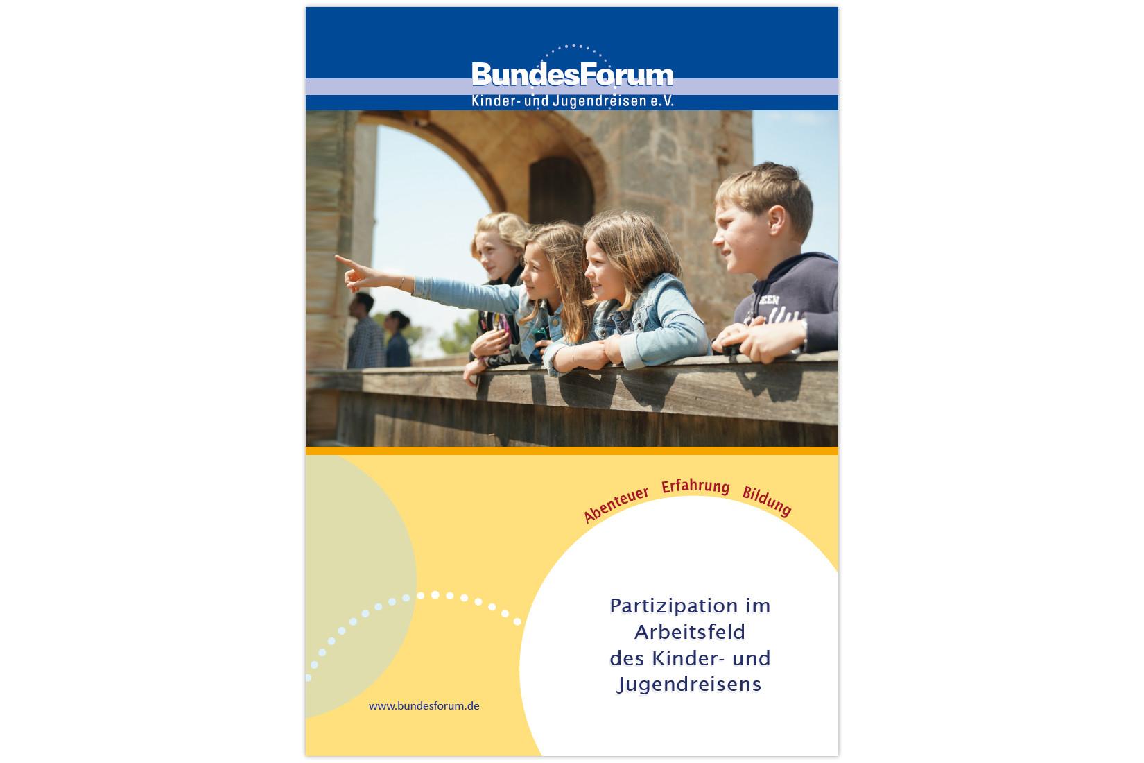 Titelbild - Handreichung Partizipation im Arbeitsfeld des Kinder- und Jugendreisens