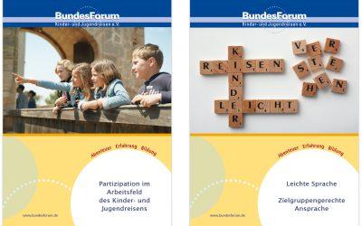 Neue Arbeitsmaterialien im Kinder- und Jugendreisen